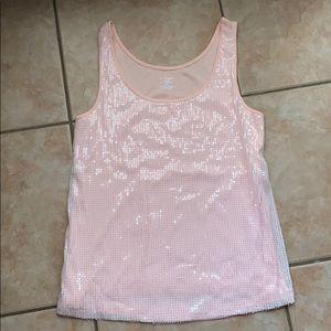 3/$30 Lane Bryant Peachy-Pink Sequin Tank 14/16